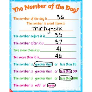 Number Of The Day! Poster - 1 poster
