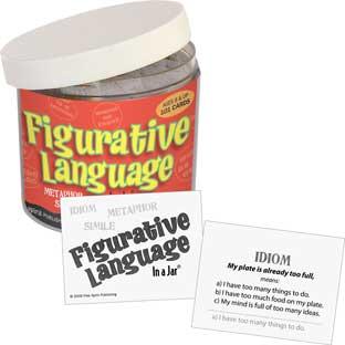 Figurative Language In A Jar - 101 cards, 1 jar