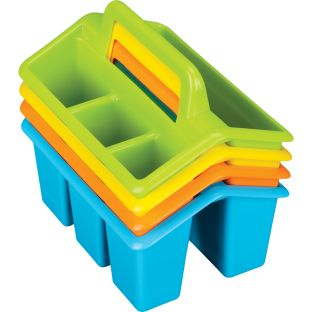 Four-Compartment Caddies - Neon Colors