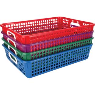 Classroom Paper Baskets-Royal Colors