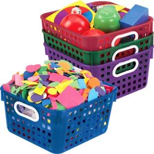 Book Baskets, Square  Royal Colors