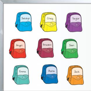 Student Name Backpack Magnets