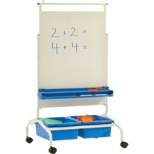 Deluxe Chart Stand - 1 easel, 2 tubs