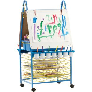 Double-Sided Art Easel - 1 easel with accessories