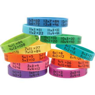 Multiplication Facts Bracelets - 24 bracelets