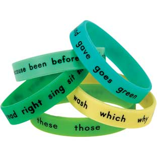 Sight Word Bracelets - Second Grade - 15 bracelets
