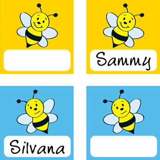"Good ""Bee-Havior"" Pocket Chart Card Refill - 32 name cards"