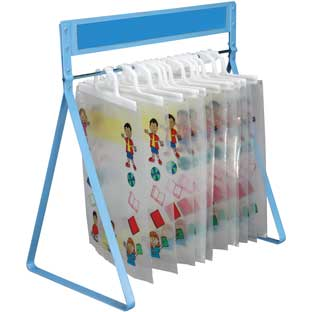 Store More Hang-Up Totes And Sturdy Rack™ - 1 rack, 12 storage bags