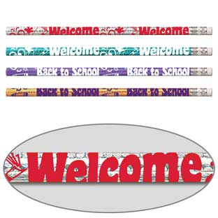 Welcome Back To School Pencils - 12 pencils