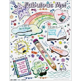 Ready-To-Decorate® Fabulous Me! Posters - 24 posters