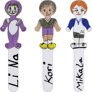 Ready-To-Decorate® Pick A Student Sticks - 24 stick figures