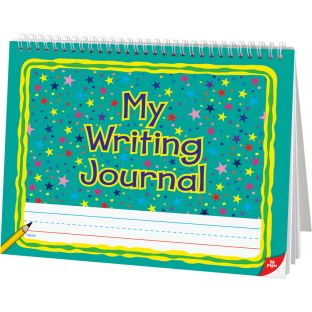 Deluxe Spiral Landscape Writing Journals (Teal Star Cover) - 112 Pages