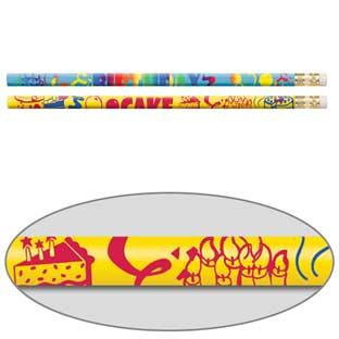 Birthday Cake Scented Pencils - 12 scented pencils