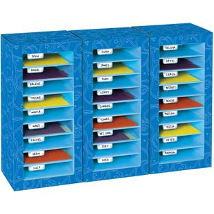 Store More® Classroom Mail Center - 27 Slot Swirl Star Design