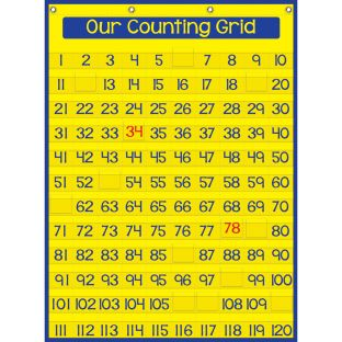 Our Counting Grid Pocket Chart™ - 1 pocket chart, 120 cards