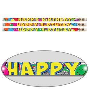 Birthday Bash Pencils - 12 pencils