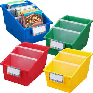 Chapter Book Library Bins™ With Dividers - Primary
