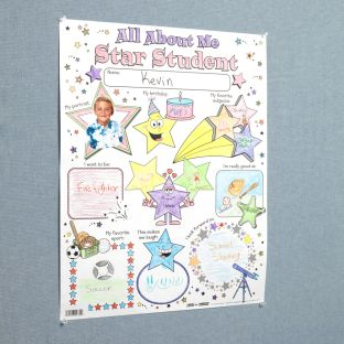 Ready-To-Decorate® All About Me Star Student Posters - 24 posters