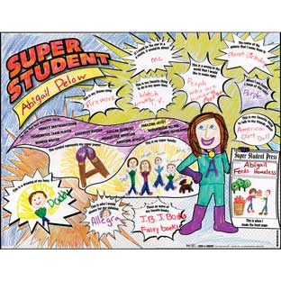 Ready-To-Decorate® Super Student About Me Posters - 24 posters