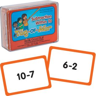 Really Good Tug Of War - Subtraction Within 10 - 1 deck of 65 cards