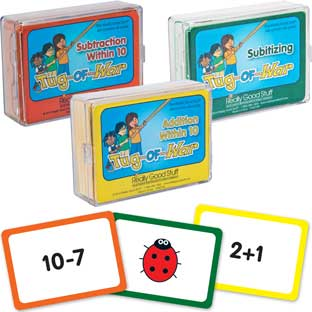 Tug of War Card Games - Early Math Skills - 3 decks of math cards