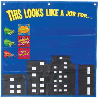 This Looks Like A Job For... Superhero Pocket Chart™ - 1 pocket chart kit