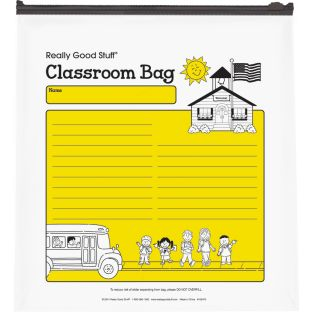 "Reusable Classroom Take-Home Bags with Zip Top – Store Student Materials, Books, Folders – Set of 30 Bags, Size: 11"" by 12"""