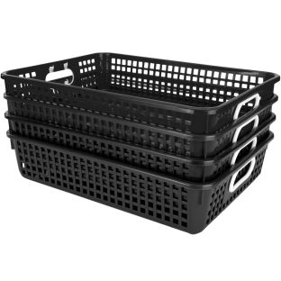 Classroom Paper Baskets - Black - 4 baskets