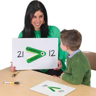 Greater Than Or Less Than Student And Teacher Manipulatives Kit - 1 teacher gator, 24 student gators