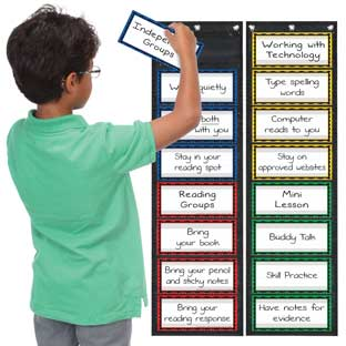 Programmable Grouping EZ-Tuck Pocket Charts™ - 2 pocket charts, 24 cards
