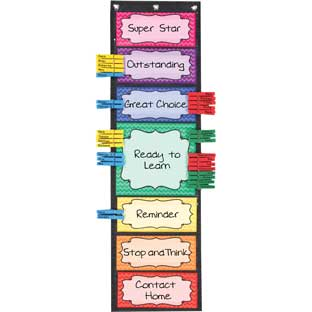 Classroom Behavior EZ-Tuck Clip 'N' Track Pocket Chart® - 1 pocket chart kit