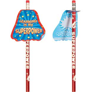 Learning Is My Superpower Pencil Tux And Pencils - 12 pencils, 12 tuxes