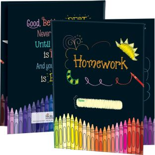 Homework Tri-Fold 3-Pocket Folders - 12 folders