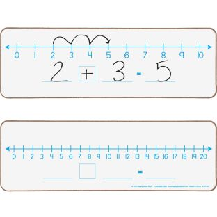 Number Line 0-10 And 0-20 Dry Erase Boards - 6 dry erase boards
