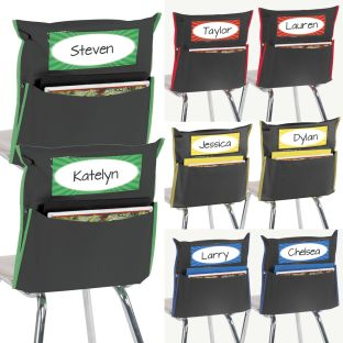 Store More® Grouping Chair Pockets - Black - 8 chair pockets