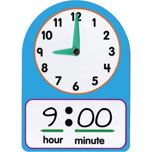 Telling Time Practice Clocks