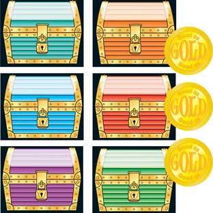 Our Behavior Is As Good As Gold Space-Saver Pocket Chart Refill Kit™ - 32 cards, 160 coins