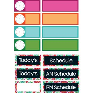 Classroom Scheduling Pocket Chart™ Refill Kit - 37 cards