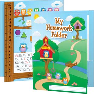 Early Learning Owl Homework Folders