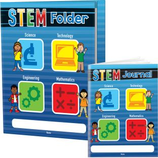 STEM Journals And Folders Kit - 12 folders, 12 journals