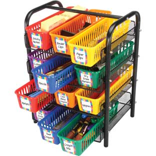 Wire Organizing Station For Classroom Supplies™ - 1 organizer, 12 baskets