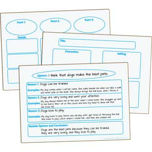 Writing Graphic Organizers Dry Erase Boards - Set of 3