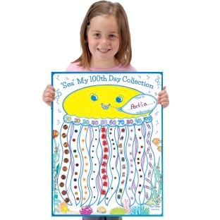 "Ready-To-Decorate® ""Sea"" My 100th Day Collection Posters - 24 posters"