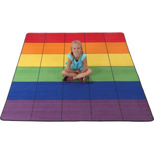 "7' 6"" Group Colors Rug - 6 Colors - 30 Squares"