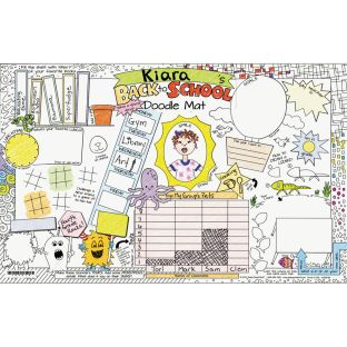 Welcome Back To School Doodle Activity Mats