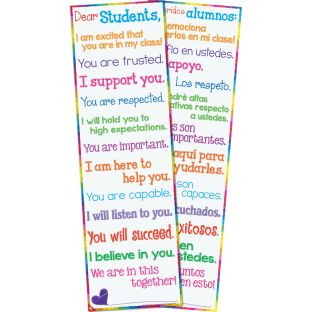 Dear Students Two-Sided Banner - English/Spanish - 1 banner