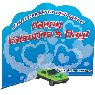 Racing By Valentine Cards And Cars - 12 cards, 12 cars