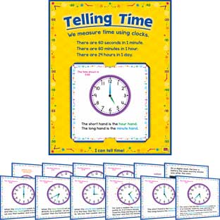 Telling Time 12-In-1 Poster Set