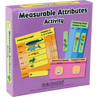 Measurable Attributes Activity - 24 mats, 82 chips