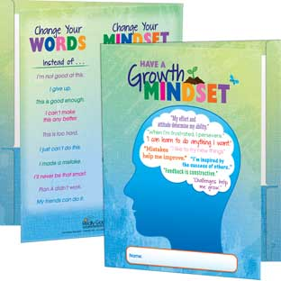 Growth Mindset Folders